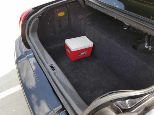 Large trunk space for those big bags.
